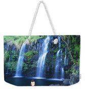 Woman At Waterfall Weekender Tote Bag