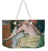 Woman Drying Herself Weekender Tote Bag by Edgar Degas