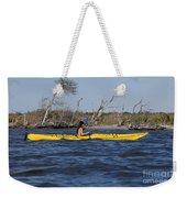 Woman Kayaking Weekender Tote Bag