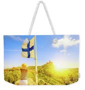 Woman Tourist In Sintra Weekender Tote Bag