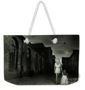 Woman Walking Away With A Child Weekender Tote Bag