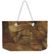 Woman With Dove Weekender Tote Bag