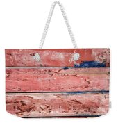 Wood Background With Faded Red Paint Weekender Tote Bag