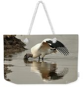 Wood Stork Winging It Weekender Tote Bag