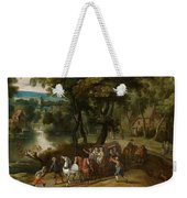 Wooded Landscape With Robbers Weekender Tote Bag