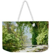 Wooded Riverscape Weekender Tote Bag by Leopold Rolhaug