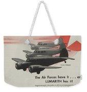World War II Advertisement Weekender Tote Bag