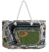 Wrigley Field In Chicago Aerial Photo Weekender Tote Bag