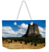 Wyoming's Devil's Tower Weekender Tote Bag