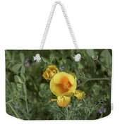 Yellow And Orange Poppy Weekender Tote Bag