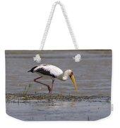 Yellow Billed Stork Weekender Tote Bag