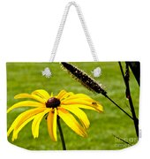 1 Yellow Daisy 2 Yellow Bugs Weekender Tote Bag