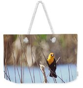 Yellow-headed Blackbird Weekender Tote Bag