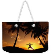 Yoga At Sunset Weekender Tote Bag