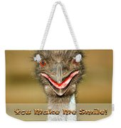 You Make Me Smile Weekender Tote Bag