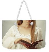 Young Girl Reading A Book Weekender Tote Bag