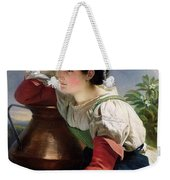 Young Italian At The Well Franz Xavier Winterhalter Weekender Tote Bag