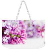 Young Spring Lilac Flowers Blooming Weekender Tote Bag