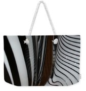 Zebra Glass Weekender Tote Bag