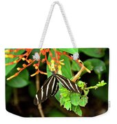 Zebra Longwing On Firebush  Weekender Tote Bag