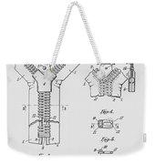 Zipper Patent Art  Weekender Tote Bag