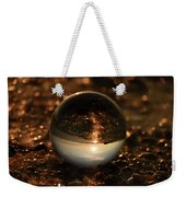 10-17-16--8585 The Moon, Don't Drop The Crystal Ball, Crystal Ball Photography Weekender Tote Bag
