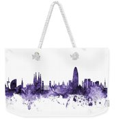 Barcelona Spain Skyline Weekender Tote Bag