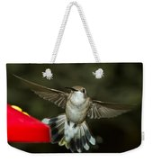 Female Ruby-throated Hummingbird Weekender Tote Bag
