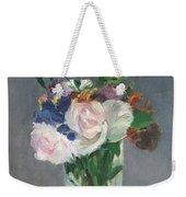 Flowers In A Crystal Vase Weekender Tote Bag