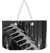 10 Hangers In Black And White Weekender Tote Bag