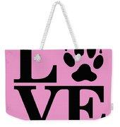 Love Claw Paw Sign Weekender Tote Bag