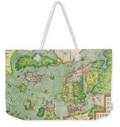 Old Map Weekender Tote Bag