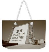 Route 66 - Drive-in Theatre Weekender Tote Bag by Frank Romeo