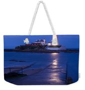 Saint Mary's Lighthouse At Whitley Bay Weekender Tote Bag