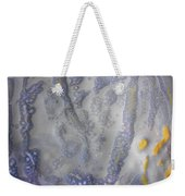 10. Speckled Blue And Yellow Glaze Painting Weekender Tote Bag