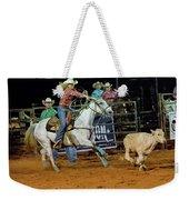 Steer Roping Weekender Tote Bag
