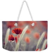 Summer Poppy Meadow Weekender Tote Bag