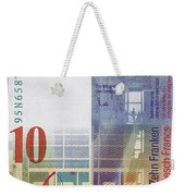 10 Swiss Franc Bill Weekender Tote Bag