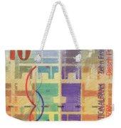 10 Swiss Franc Pop Art Bill Weekender Tote Bag