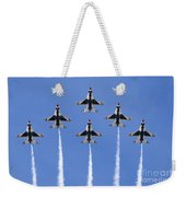 Us Air Force Thunderbirds Flying Preforming Precision Aerial Maneuvers Weekender Tote Bag