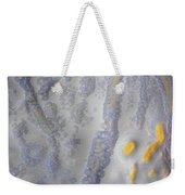 10. V2 Speckled Blue And Yellow Glaze Painting Weekender Tote Bag