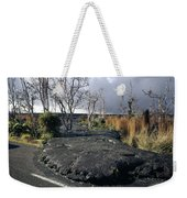 100925 Lava Flow On Road Hi Weekender Tote Bag