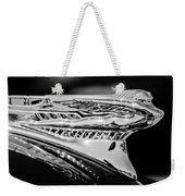 1946 Desoto Hood Ornament -169bw Weekender Tote Bag