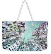 Abstract Digital Oil Painting Full Of Texture And Bright Color Weekender Tote Bag
