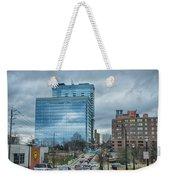 Atlanta Downtown Skyline Scenes In January On Cloudy Day Weekender Tote Bag