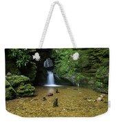 Beautiful Flowing Waterfall With Magical Fairytale Feel In Lush  Weekender Tote Bag