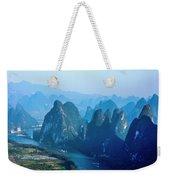 Karst Mountains And Lijiang River Scenery Weekender Tote Bag