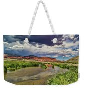 Mountain Lake Weekender Tote Bag