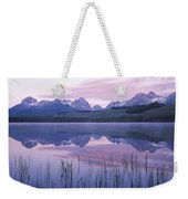 Reflection Of Mountains In A Lake Weekender Tote Bag