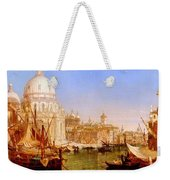 selous Henry Courtney A View Along The Grand Canal With Santa Maria Della Salute Henry Courtney Selous Weekender Tote Bag